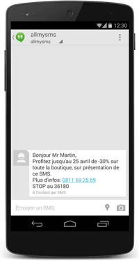 Exemple de SMS de marketing